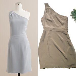 J. Crew Silk Nanine Dress Taupe Size 8